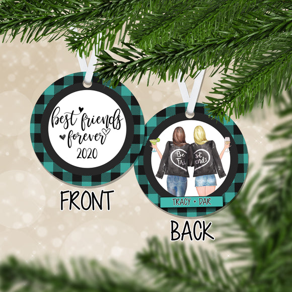 Personalized Best Friends Forever Christmas Ornament - RO0134