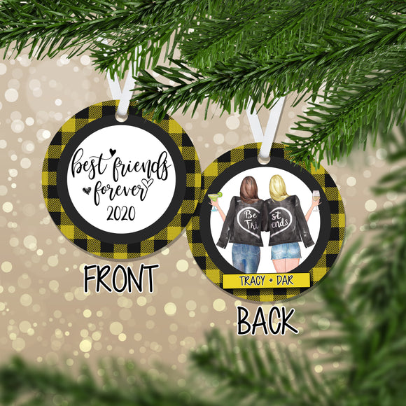 Personalized Best Friends Forever Christmas Ornament - RO0139