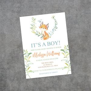 Personalized Forest Animal Baby Shower Invitation - PI0017
