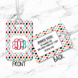 Luggage Tags Personalized Monogram - Initial Luggage Tag - Custom Luggage Tag - Address Tag - Monogram Luggage Tag - Travel Bag Tag - LT0002