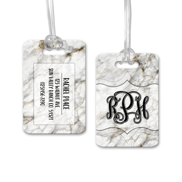 Personalized Marble Luggage Tag - LT0004