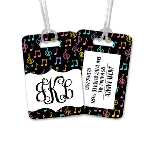 Personalized Musical Notes Luggage Tag - LT0006