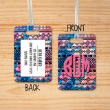Luggage Tags Personalized Tribal Galaxy Arrows Monogram - Initial Luggage Tag - Custom - Address Tag - Monogram - For Travelers - LT0009