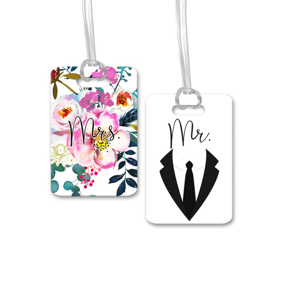 Mr. & Mrs. Wedding Luggage Tags - LT0012-LT0023