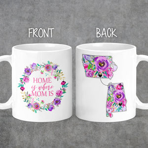 Long Distance Mother's Day Mug - Gift For Mom - State Mug - Mom Birthday Gift - Home Mug - Personalized Mug - Mom Mug- M0473