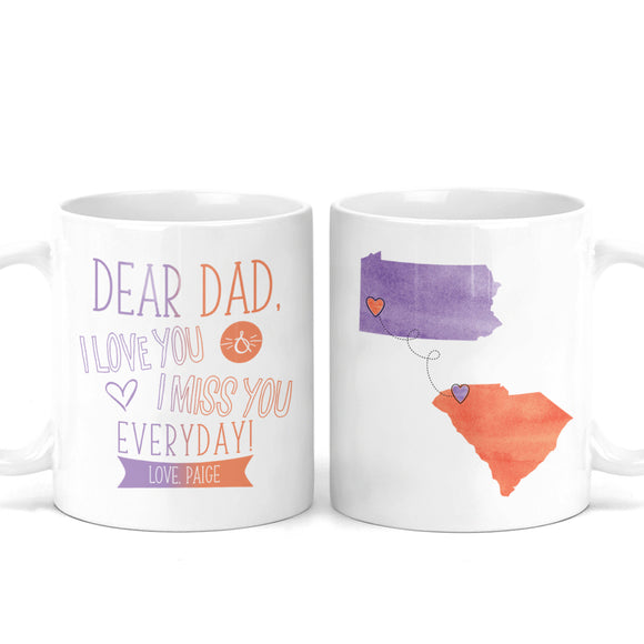 Father's Day Gift Long Distance Mug -M0489