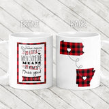 Long Distance Red Buffalo Plaid Mug - M0496