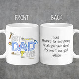 Personalized Best Dad Ever Handyman Tool Coffee Mug - M0514