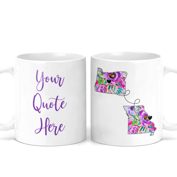 Custom Quote Long Distance Coffee Mug - M0521