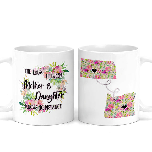 Long Distance Mother And Daughter Mug - M0545