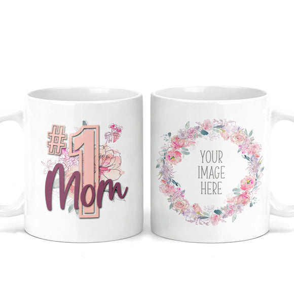 #1 Mom Custom Photo Mug - M0548