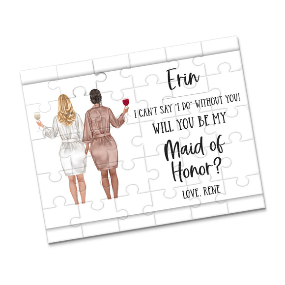 Personalized Asking Maid of Honor Puzzle - P2366