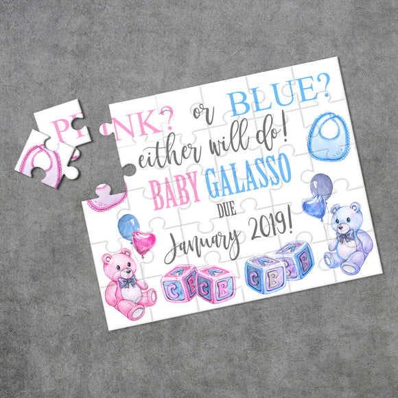 Personalized Pregnancy Announcement Puzzle - P0219