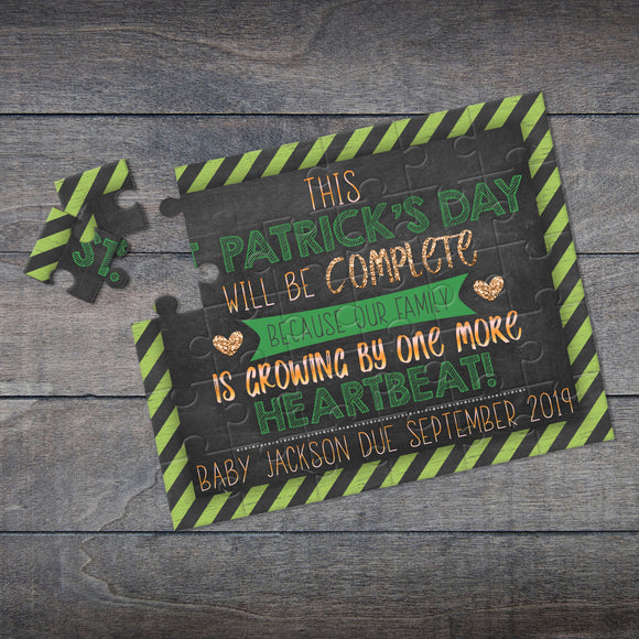 St. Patrick's Day Pregnancy Announcement Puzzle - P2139