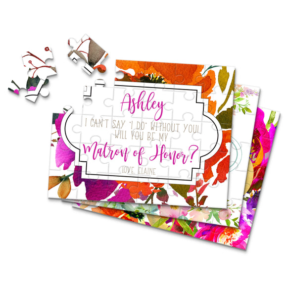 Personalized Asking Matron of Honor Puzzle - P2206 - P2238