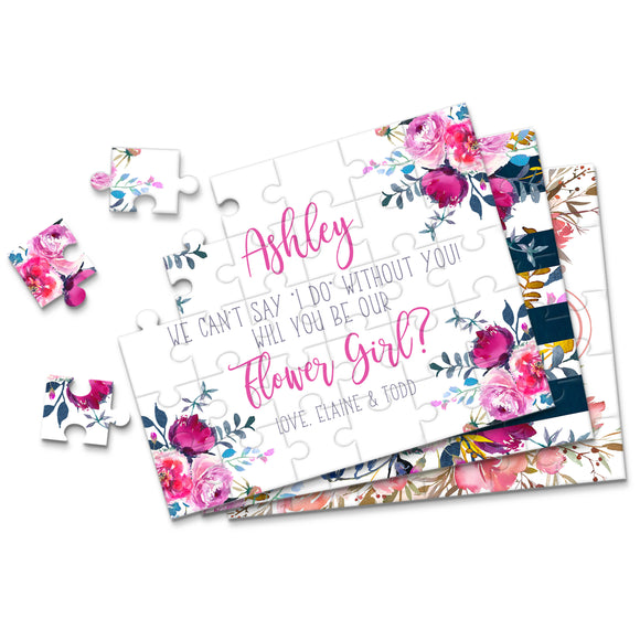 Personalized Asking Flower Girl Puzzle - P2239 - P2271