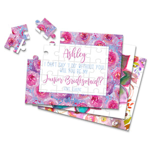 Personalized Asking Junior Bridesmaid Puzzle - P2272 - P2304