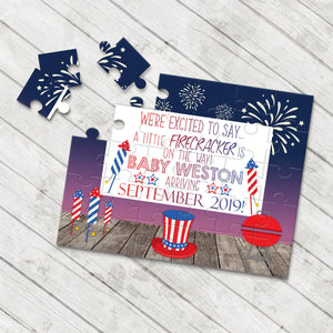 July 4th Pregnancy Announcement Puzzle - P2328