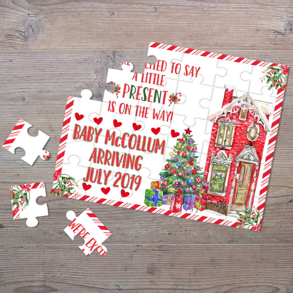 Personalized Christmas Pregnancy Announcement Puzzle - P2329