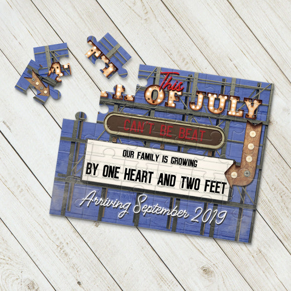 July 4th Pregnancy Announcement Puzzle - P2347