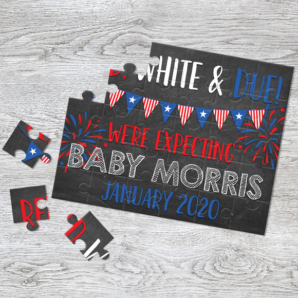 July 4th Pregnancy Announcement Puzzle - P2348