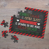 Personalized Christmas Pregnancy Announcement Puzzle - P2352