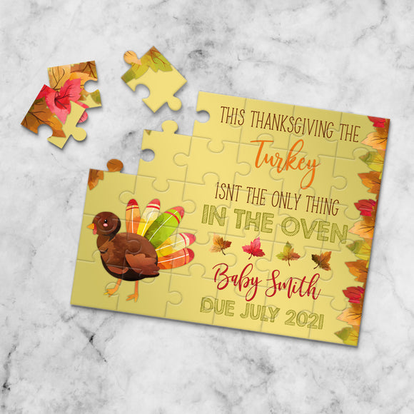 Thanksgiving Themed Pregnancy Announcement Puzzle - P2354