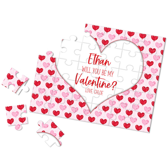 Personalized Be My Valentine Puzzle - P2355