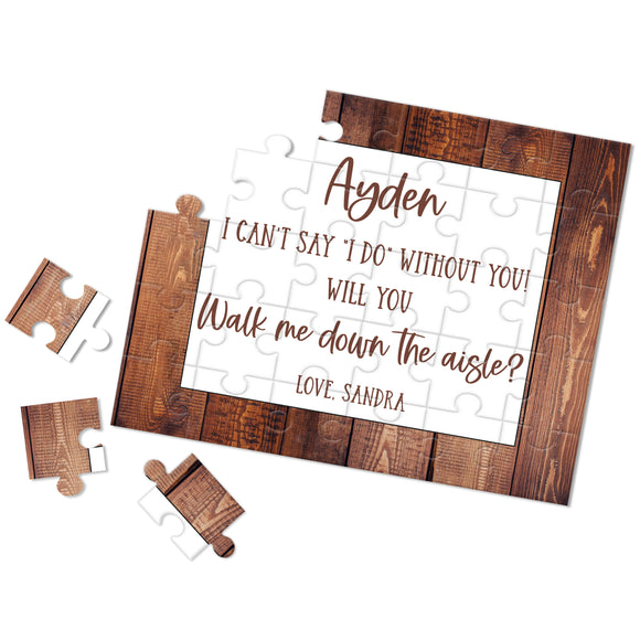 Personalized Walk Me Down The Aisle Puzzle - P2358