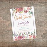 Personalized Floral Bridal Shower Invitation - PI0001