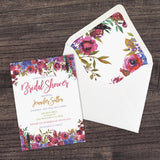 Personalized Floral Bridal Shower Invitation - PI0002