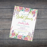 Personalized Floral Bridal Shower Invitation - PI0004