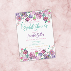 Personalized Floral Bridal Shower Invitation - PI0005