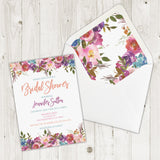 Personalized Floral Bridal Shower Invitation - PI0006