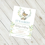 Personalized Forest Animal Baby Shower Invitation - PI0007