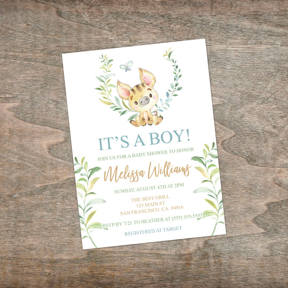 Personalized Forest Animal Baby Shower Invitation - PI0008