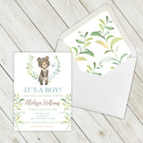 Personalized Forest Animal Baby Shower Invitation - PI0009