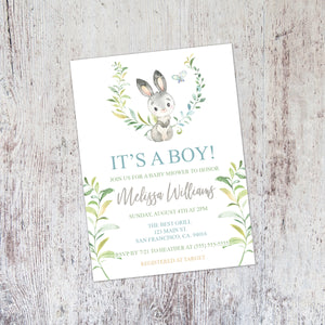Personalized Forest Animal Baby Shower Invitation - PI0010