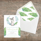 Personalized Jungle Animal Baby Shower Invitation - PI0013