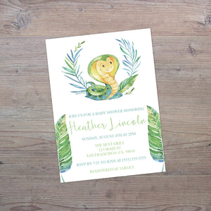 Personalized Jungle Animal Baby Shower Invitation - PI0014