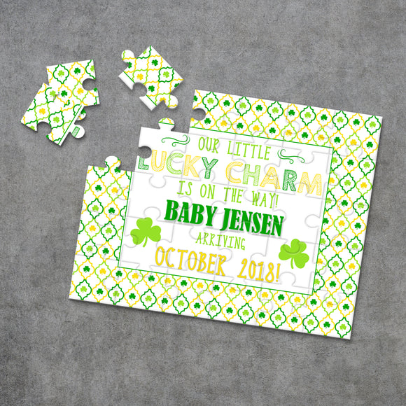 St. Patrick's Day Pregnancy Announcement Puzzle - P1209