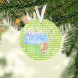 Personalized Football Christmas Ornament - RO0011