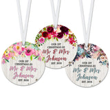 Personalized Our 1st Christmas As Mr. & Mrs. Ornament - RO0044-RO0049