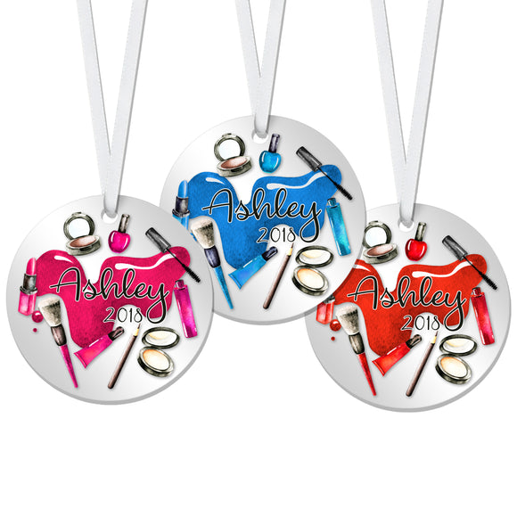 Personalized Makeup Christmas Ornament - RO0051