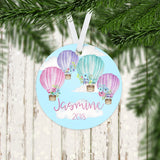 Personalized Hot Air Balloon Christmas Ornament - RO0060