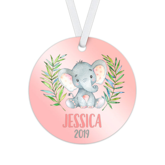 Personalized Elephant Christmas Ornament - RO0070