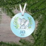 Personalized Elephant Christmas Ornament - RO0071