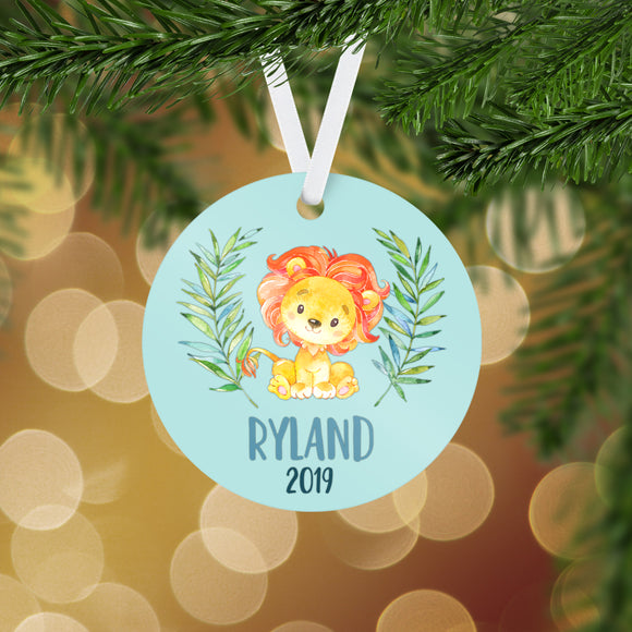 Personalized Lion Christmas Ornament - RO0072
