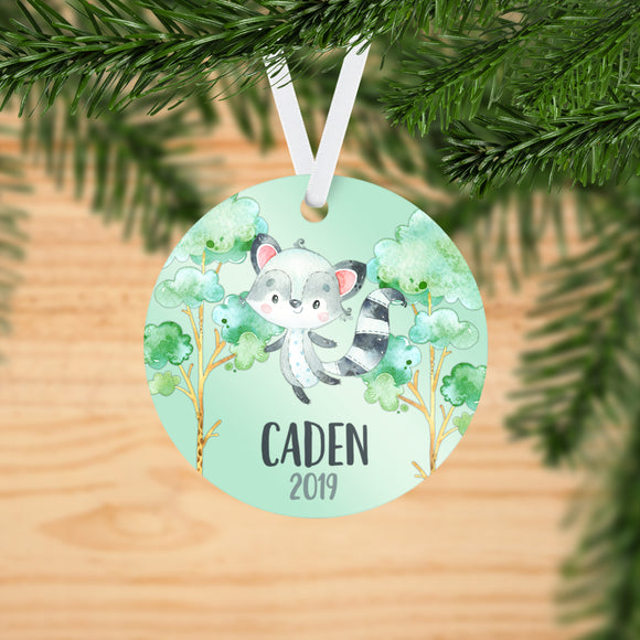 Personalized Raccoon Christmas Ornament - RO0073