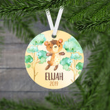 Personalized Bear Christmas Ornament - RO0074